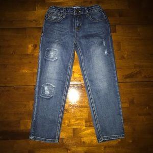 Distressed Boyfriend Patch Jeans By Vigoss Jeans